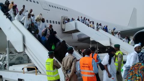 بدء وصول أفواج الحجاج المورتانيين للعاصمة نواكشوط